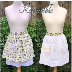 Apron ~Reversible ~ Floral Print ~ GVC ~ 2 Pockets